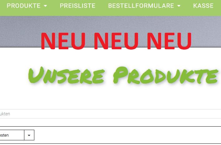 Read more about the article Alles Neu macht der Mai: Preise, Bestellformulare, Artikelnummern.